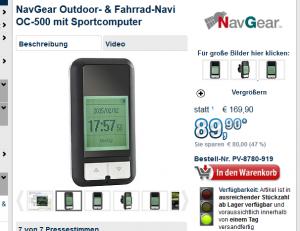 NavGear OC-400 und OC-500
