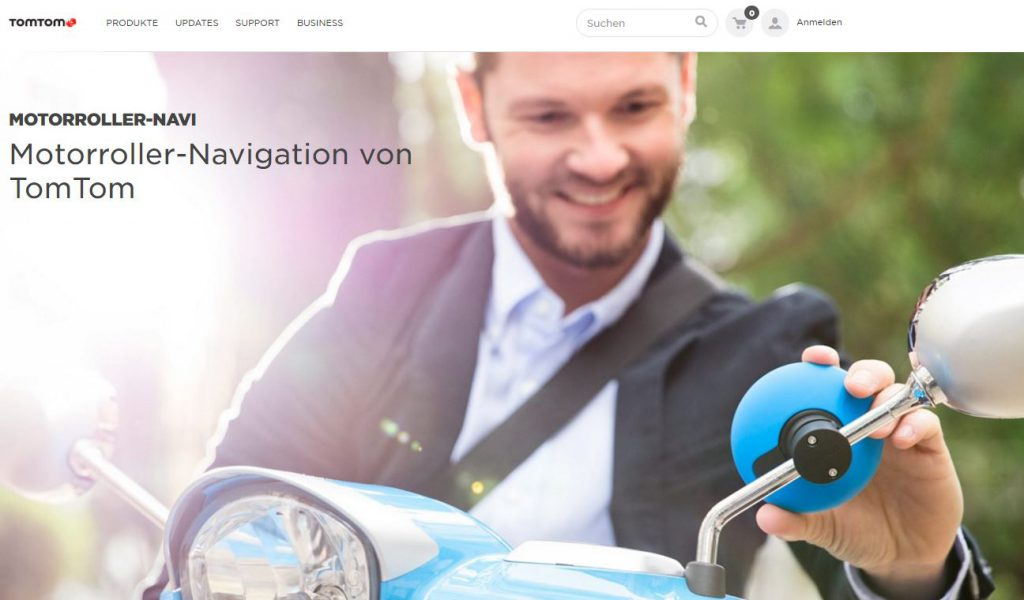 TomTom VIO: Das Navi für Motorroller