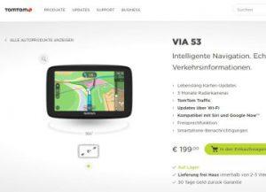 TomTom Via 53: Navi mit integriertem WLAN