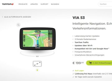 tomtom neues navi mit integriertem wlan. Black Bedroom Furniture Sets. Home Design Ideas