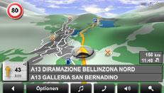 Panorama View 3D im Navigon 8110, Foto: Navigon.