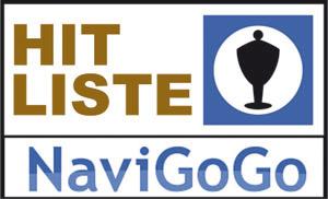 NaviGoGo Hitliste: Die meistverkauften Navigationssysteme in einer Tabelle.
