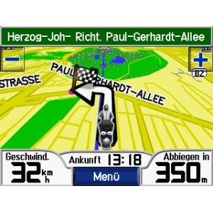 Navigation mit dem Zumo 400 DACH. Foto: Garmin