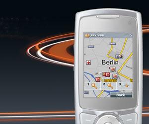 Handy Navigation mit dem Navigon Mobile Navigator 7. Foto: Navigon