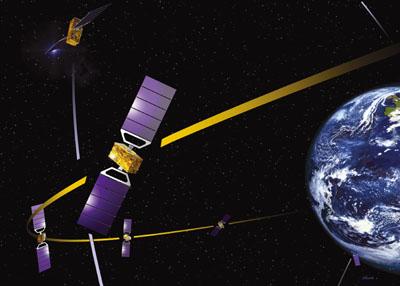 Galileo: Das Satellitensystem der Europäer. Foto: ESA - J.Huart
