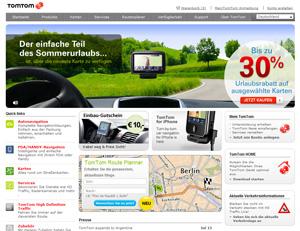 Navi-Hersteller TomTom. Die nierderländische Firma stellt vor allem mobile GPS Navigationssysteme her.