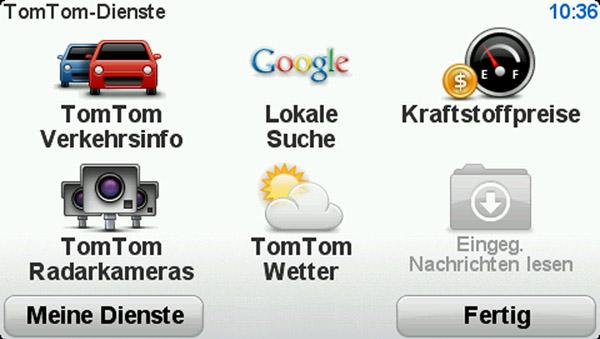 TomTom XL Live: Verkehrsinfos, Google-Suche und das Wetter. Das TomTom XL Live ist vielseitig. Foto: TomTom