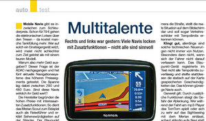 ADAC Test: Top Navigationssysteme im Test