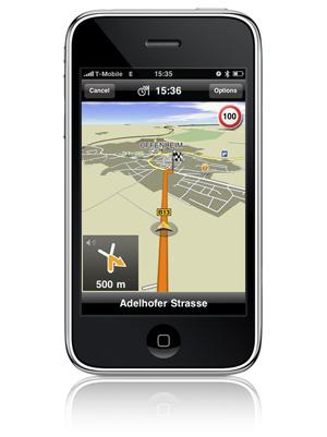 iPhone Navigationssystem von Navigon. Foto: Navigon