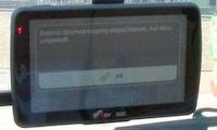 Navgear Street Mate RS-50-3D Navigationssystem Akku umgeschaltet (Foto: juergenlueck.com)