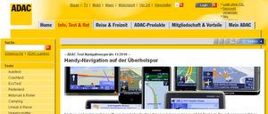 ADAC Navigationssystem Test 2010 (Foto: ADAC)