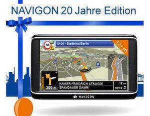 Schützt vor Irrfahrten: Navigon 20 Jahre Edition Navigationssystem