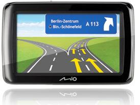 Zeitweise dabei: Mio Spirit 485 Navigationssystem
