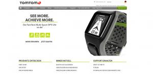 Screenshot von tomtom.com