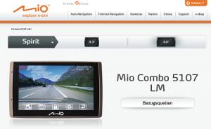 Neues Mio Combo: Navi und Dashcam